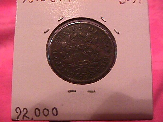 Draped Bust Copper Half Cent Coin Dated 1803   Very Fine-20 Condition