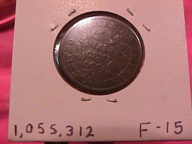 Draped Bust Copper Half Cent Coin Dated 1804 Fine-15 Condition