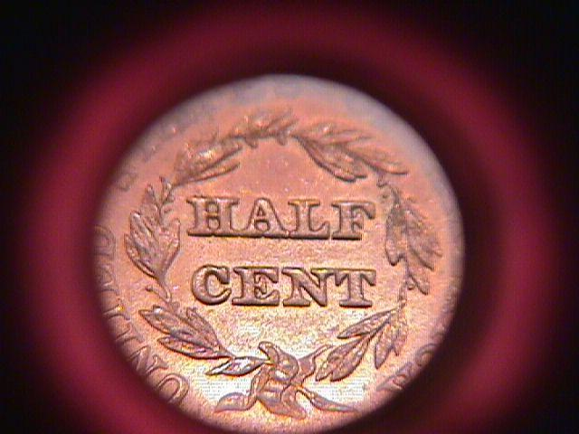 HALF CENT BRAIDED HAIR-1856 ALMOST UNCIRCULATED-58   Condition