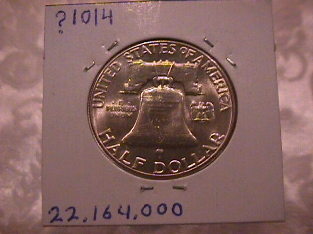 FRANKLIN SILVER HALF DOLLAR DATED 1963 GRADED MINT STATE-63