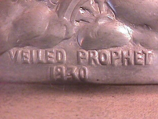 PEWTER VEILED PROPHET 1930