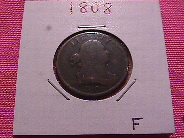 DRAPED BUST 1808 GRADED FINE
