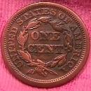 BRAIDED HAIR COPPER LARGE CENT  1848  VERY FINE-20