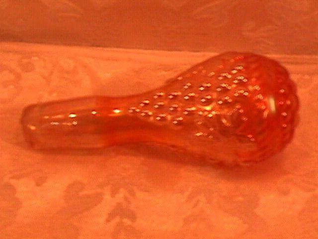 NORTHWOOD GRAPE & CABLE COLOGNE STOPPER MARIGOLD CARNIVAL GLASS