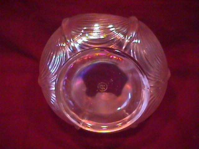 NORTHWOOD DRAPERY ROSE BOWL WHITE CARNIVAL GLASS