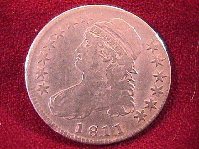 CAPED BUST HALF DOLLAR 1811 FINE-15