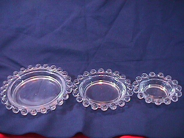 CANDLEWICK NESTING ASHTRAY SET 3 PIECE IMPERIAL