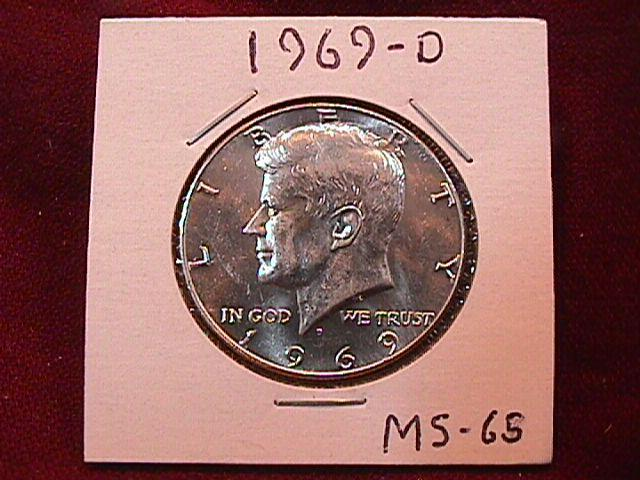 KENNEDY HALF DOLLAR 1969-D MS-65