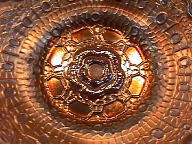 CARNIVAL GLASS CAPTIVE ROSE CANDY RIBBON EDGE BOWL AMETHYST FENTON