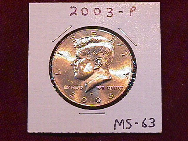 KENNEDY HALF DOLLAR 2003-P MINT STATE-63+++