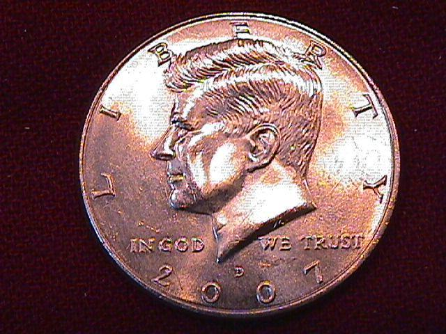 KENNEDY HALF DOLLAR 2007-D MINT STATE-63+++