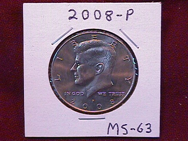 KENNEDY HALF DOLLAR 2008-P MINT STATE-63+++