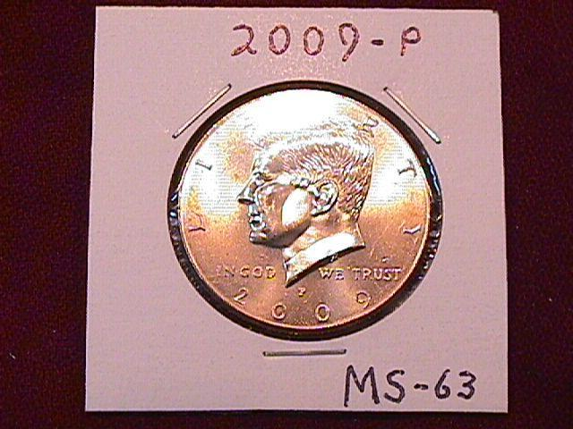 KENNEDY HALF DOLLAR 2009-P MINT STATE-63+++
