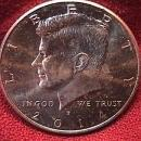 KENNEDY HALF DOLLAR 2014-P MINT STATE-63+++