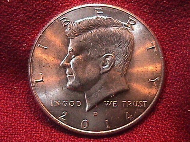 KENNEDY HALF DOLLAR 2014-D MINT STATE-63+++