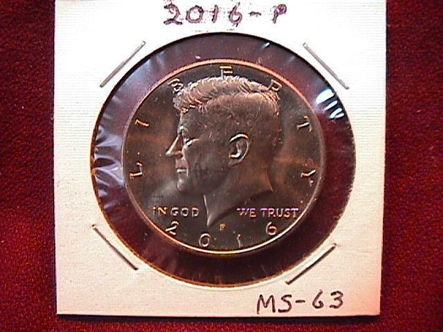 KENNEDY HALF DOLLAR 2016-P MINT STATE-63+++