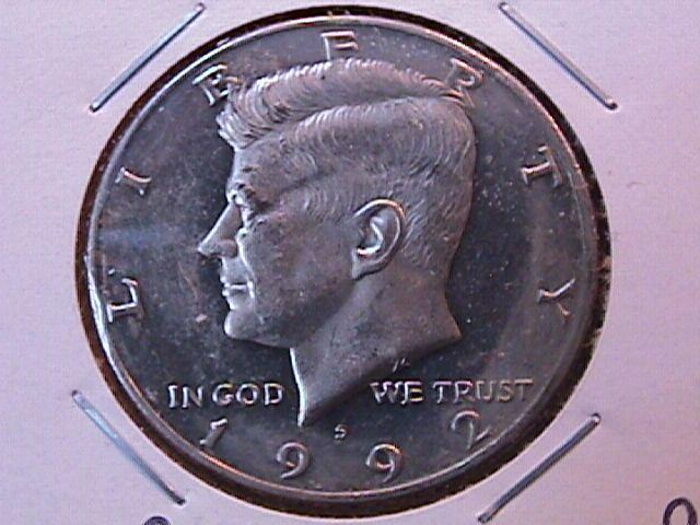 KENNEDY HALF DOLLAR 1992-S CIRCULATED PROOF