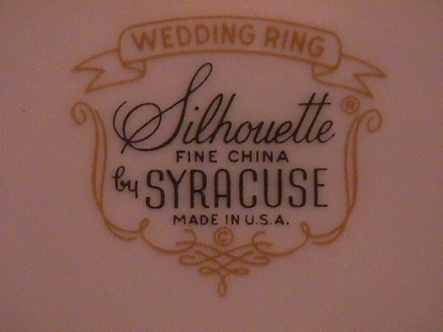 Syracuse Wedding Ring Salad Plate