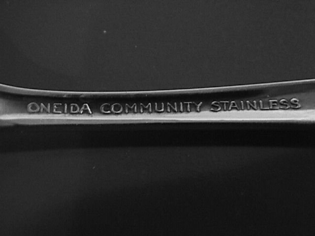 Oneida Community Stainless My Rose Pierced Jelly Spoon