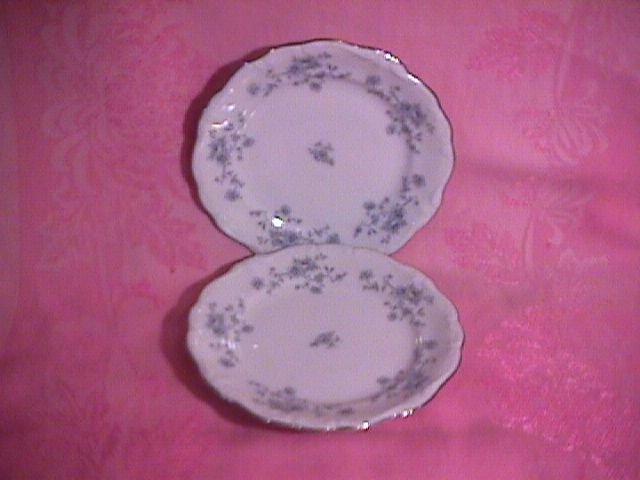 Johann Haviland Blue Garland (2) Cake Plates