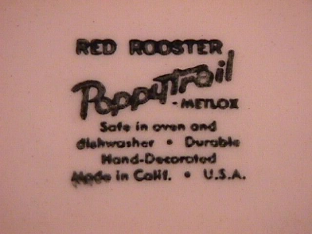 Metlox-Red Rooster Round Vegetable