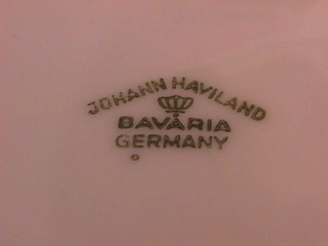 Johann Haviland Blue Garland Covered Sugar