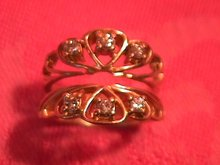 14K Diamond Insert Ring