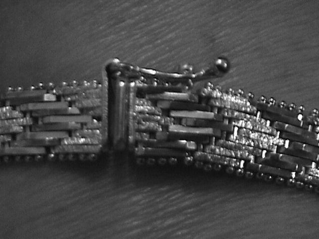 Heavy Italian Sterling Herringbone Bracelet