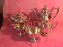 Durgin Sterling 5-Piece Tea & Coffee Service