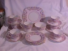 Colclough Bone China  21 Piece Dessert Set