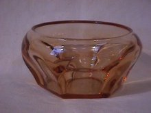 Cambridge (Peachbloom) Crystal Unknown? Pattern Rosebowl
