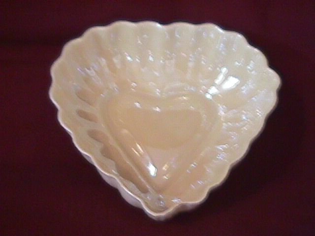 Belleek Heart Shape Bowl