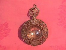 Antique Marked? Pierced Tea Strainer