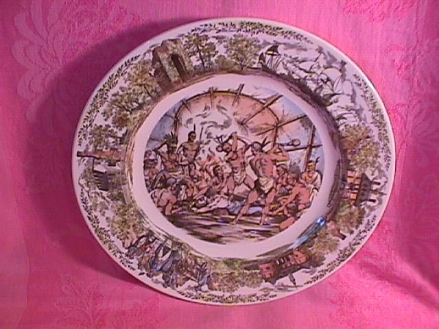 Wedgwood= Williamsburg Commemorative Jamestown, Virginia Display Plate