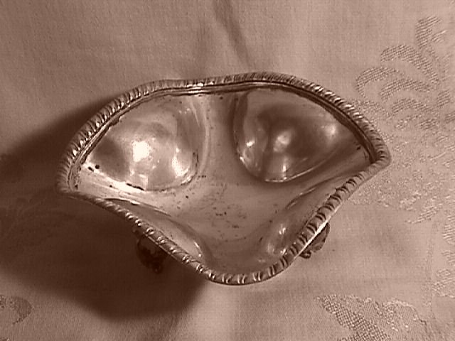 Sterling Silver= Three Footed Bowl (Mexico)