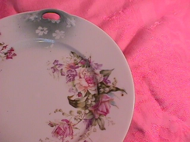 Altwasser C. T.  Germany Open Handle Cake Plate