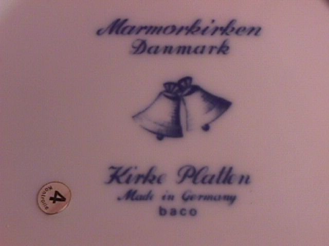 Christmas Plate 1970 Marmorkirken  Danmark