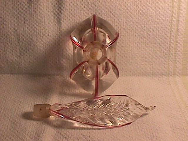 Crystal & Cranberry Perfume Bottle (Imperfect)