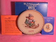 Hummel Annual Christmas Plate-1975 Mint W/Box