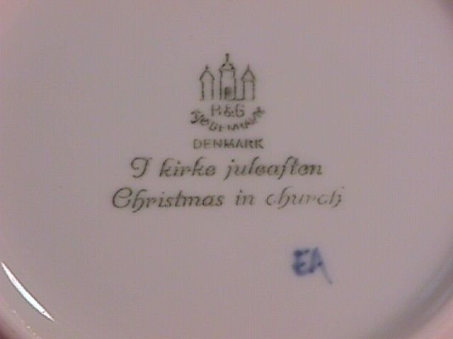 Bing & Grondahl Christmas Plate 1968-Christmas In Church