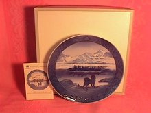 Royal Copenhagen Christmas Plate-1968 The Last Umiak
