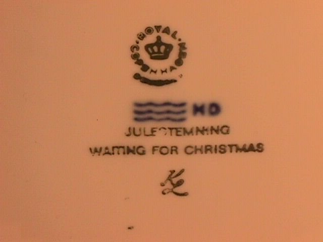 Royal Copenhagen Christmas Plate-1982 Waiting For Christmas