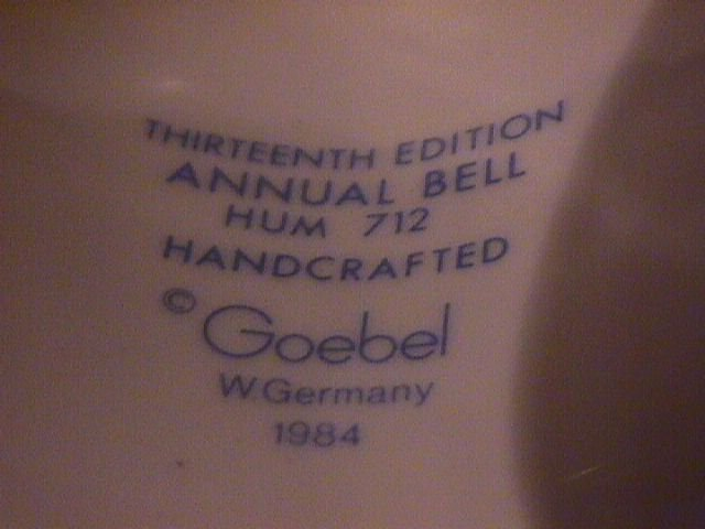 Hummel Annual Bell=1990= 13th Edition:  What's New?