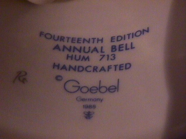 Hummel Annual Bell=1991= 14th Edition: Favorite Pet