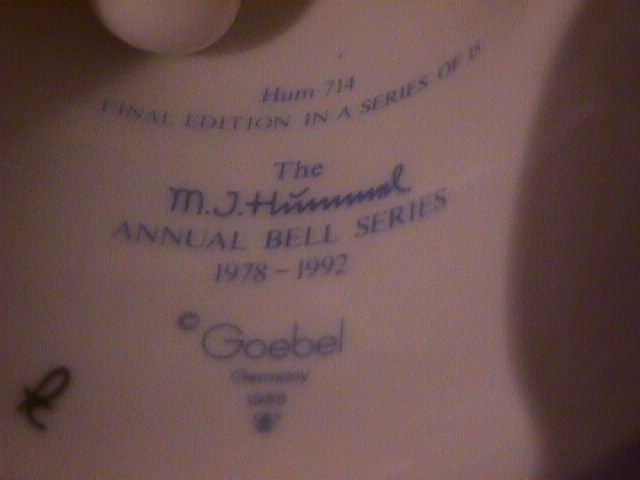 Hummel Annual Bell=1992= 15th Edition: Whistlers Duet
