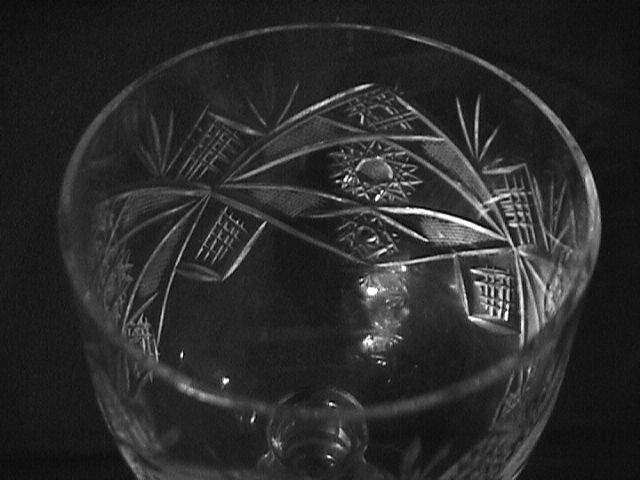 Elegant Cut Glass Wine Set -6  (Unknown Pattern)