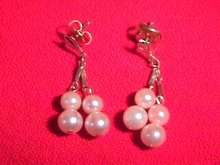 14K  Gold and Cultured Pearl Earrings