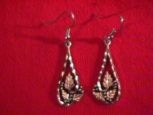 Sterling & Black Hills Gold Dangle Earrings