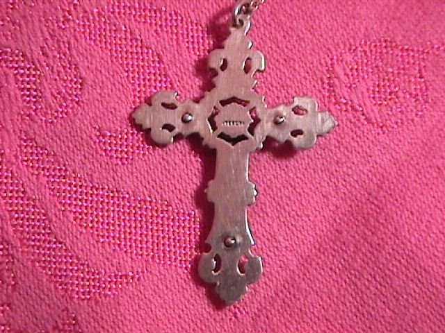 Vintage Sterling Crucifix-Cross and Chain