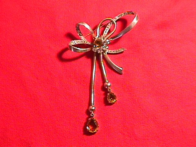 Mazer Sterling Fancy Bow Brooch